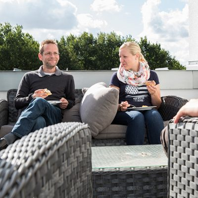 Chill-Out Dachterrasse TSO-DATA Osnabrück